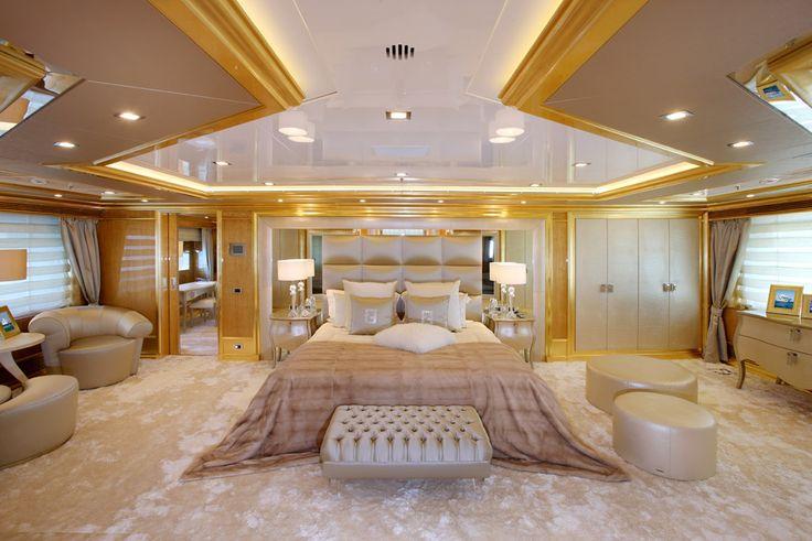 Master Bedroom Inside A Yacht
