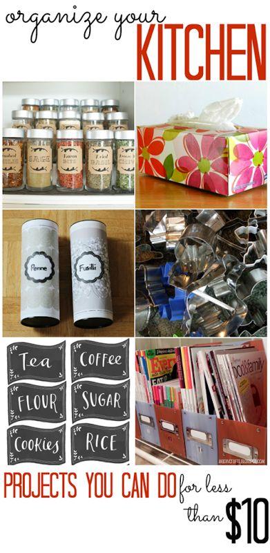 Inexpensive Kitchen Ideas Organizing