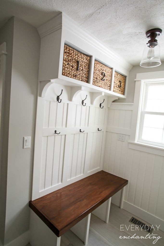 DIY Laundry Closet To Mudroom Makeover Examples Coat
