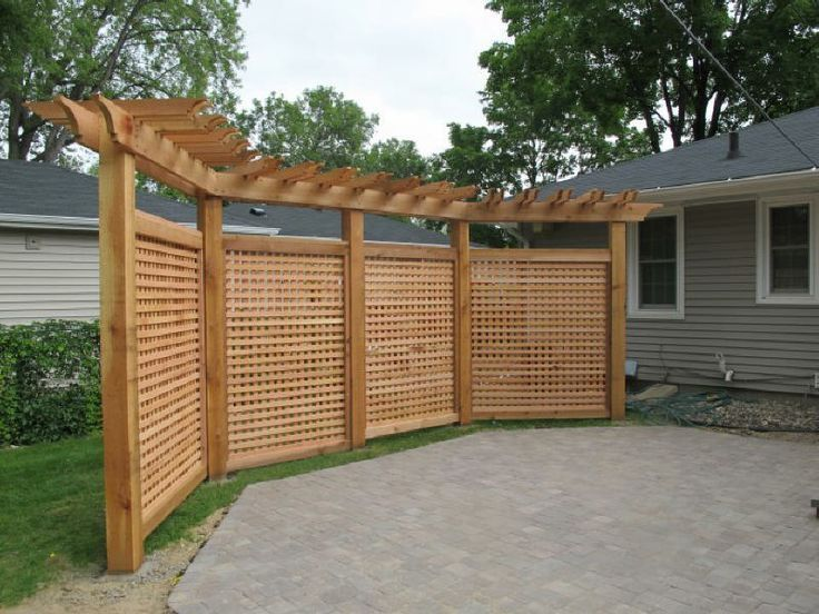 ... Fence With Pergola Topper