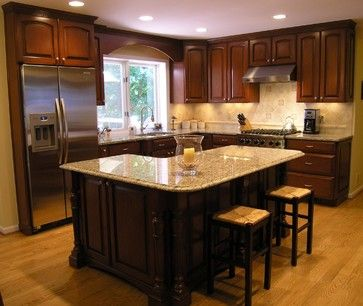 L Shaped Kitchen Designs With Island Shaped Island