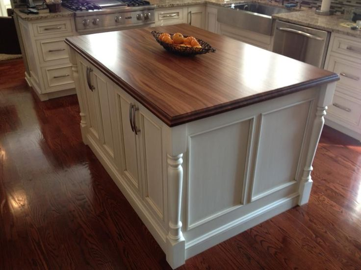Kitchen Island Spindle Legs Add Texture Shabby Chic