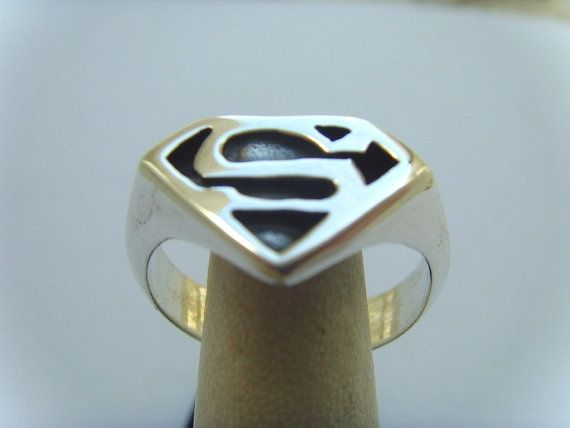 Superman Ring Sterling Silver 925 By Vikigreen On Etsy