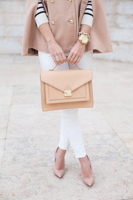 Different shades of camel make for the perfect summer look.