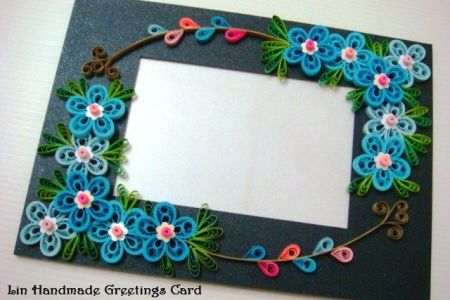 handmade paper quilling photo frame » Path Decorations Pictures ...