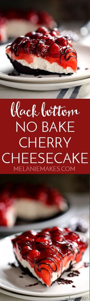 No one will ever guess this Black Bottom No Bake Chocolate Cheesecake takes just 10 minutes to prepare. A puddle of chocolate
