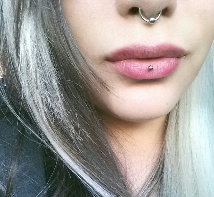 My own septum and inverted vertical labret or an ashley