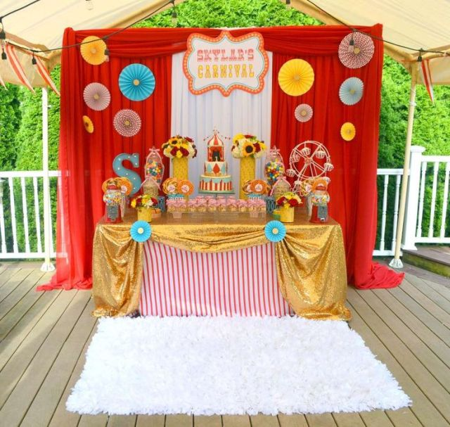 Carnival first birthday party see more party ideas at
