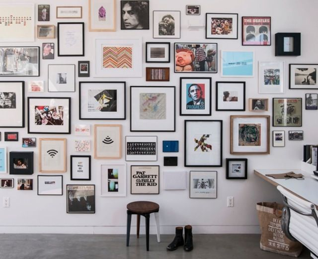 All I want in life is huge gallery walls with mismatched frames.