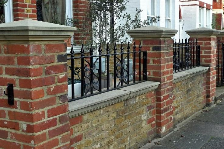 Wall Top Railing With Coping Fences For Back Yard