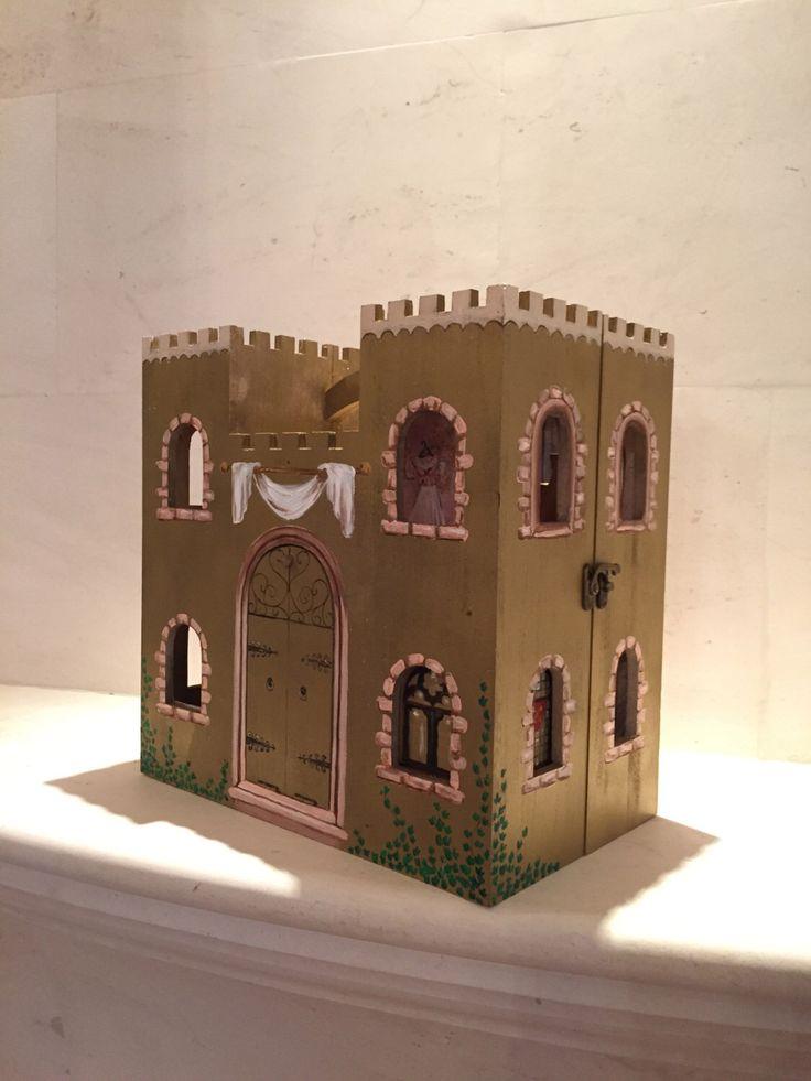 Castle Gold Princess Castle Fairytale Dollhouse Little Girl Gifts Custom Castle Wooden By