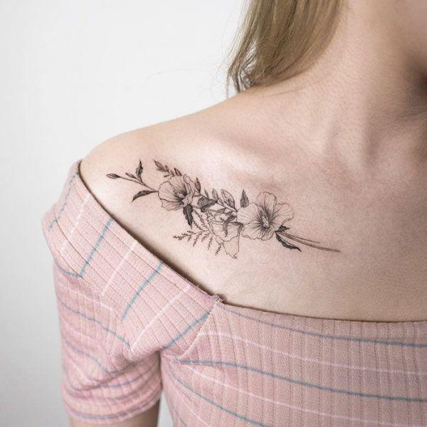 1000 idées sur le thème Tatouages Clavicule sur Pinterest ...