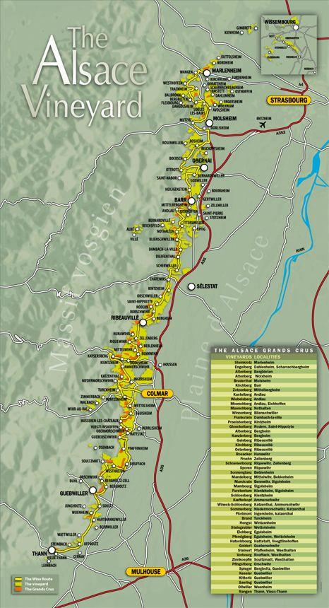 The Alsace wine route, Tourism – Vins dAlsace, CIVA, grands crus, crmant, vendanges tardives, slections grains nobles, riesling,