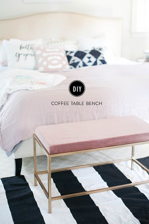 How To Turn An Ikea Coffee Table Into The Bedroom Bench Of Your Dreams