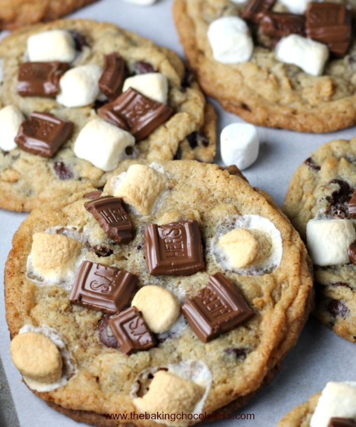 Smore Chocolate Chip Gooey Bliss Cookies