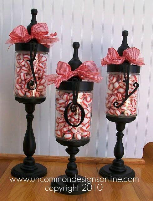 christmas apothecary jars I