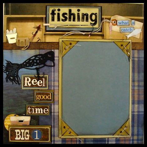 Fishing Scrapbook Page