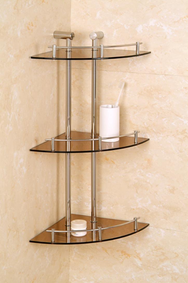 shower shelf ideas | glass-corner-shelf-bathroom-bathroom ... on Bathroom Corner Shelf  id=56394