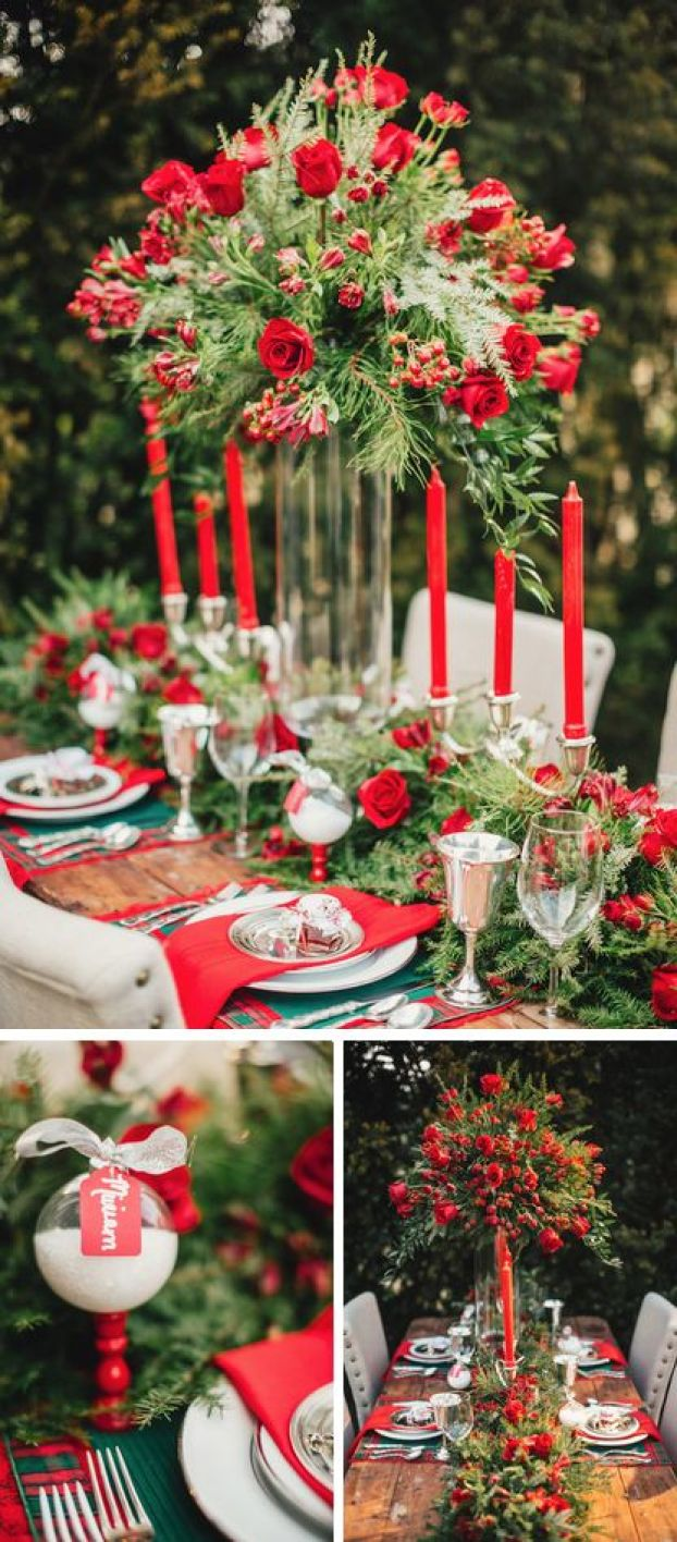 Gorgeous holiday inspired tablescape // The Bride Link, Custom Love Gifts // LB Floral // JoPhoto: