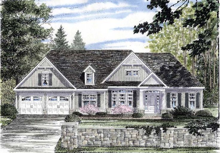 Cape Cod Cottage Country Ranch House Plan 94188