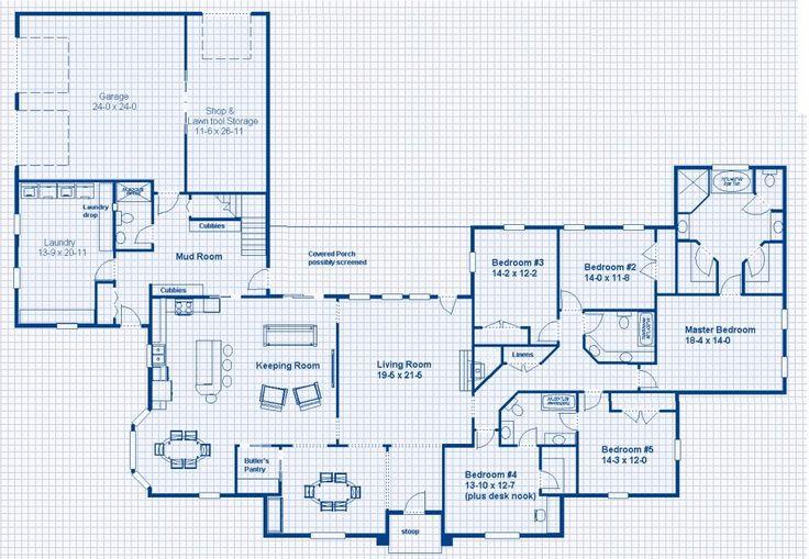 L Shaped Open Floor Plan