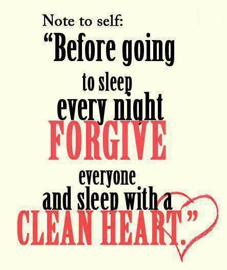 Sleep with a clean heart always