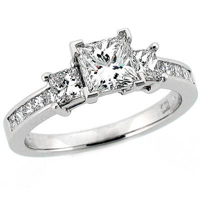 Princess Cut 3-Stone Engagement Ring: Stardust Diamonds – Engagement Ring,engagement rings,diamond engagement rings