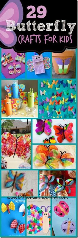 29 Butterfly Crafts for Kids – So many beautiful and unique ways for kid from toddler, preschool, kindergarten, and more to make