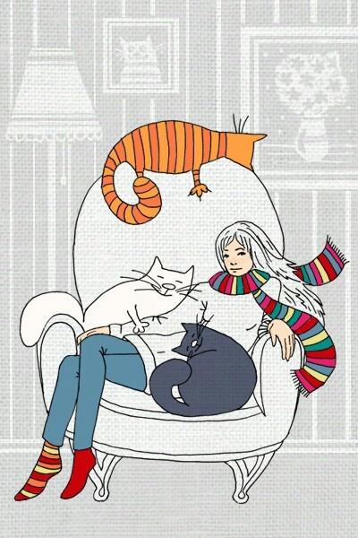 781 Best Cat Illustration Images On Pinterest