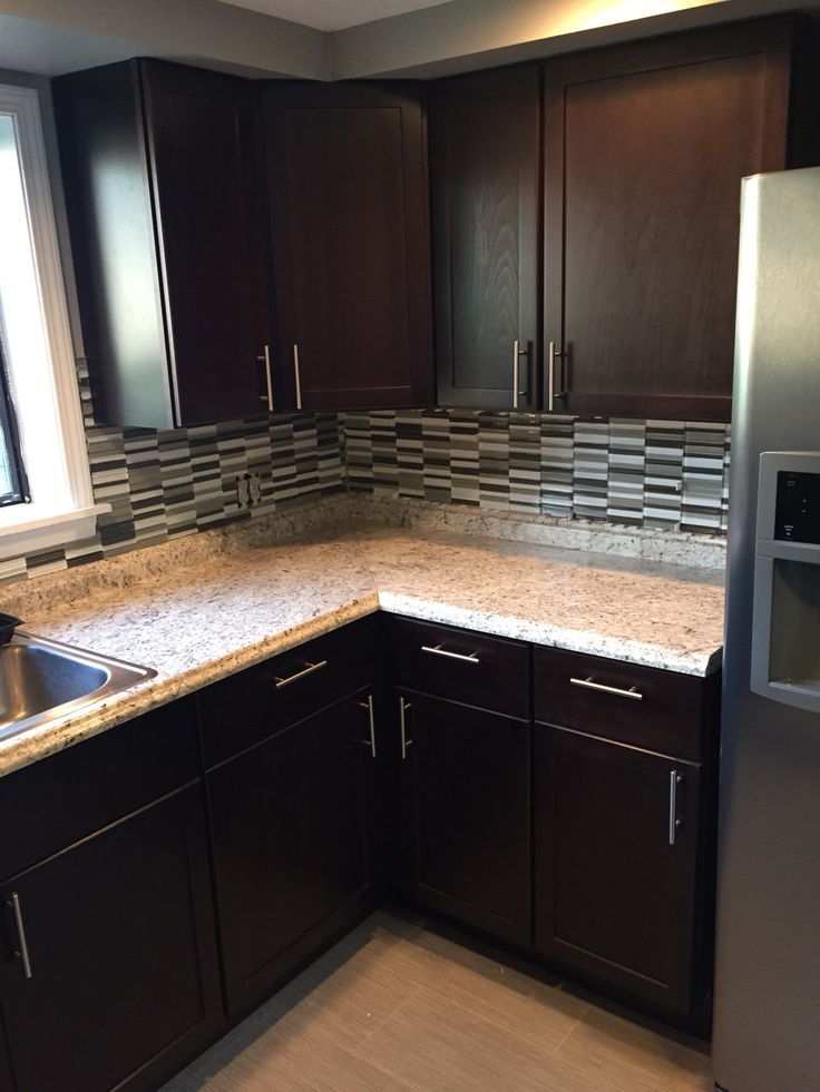 Home Depot Stock Hampton Bay Java Kitchen Cabinets With