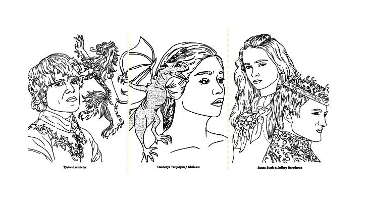 Free Coloring Page Coloring Adult Game Of Thrones Dessin