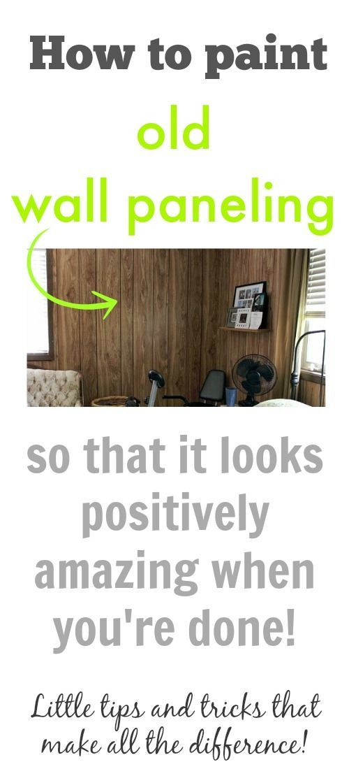 How to paint your old wall paneling and love the results!
