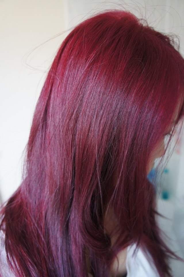 Dark Purple Red Hair Color