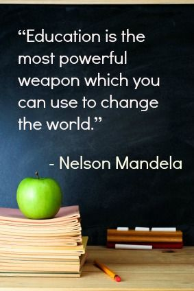 Nelson Mandela: His 10 Best and Most Inspirational Quotes. Something my parents truly believed!!!