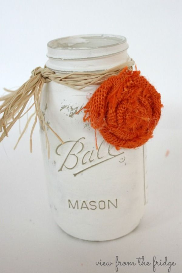 Mason jar centerpieces, Masons and Halloween on Pinterest