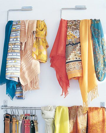 1000 Ideas About Hang Scarves On Pinterest Organizing