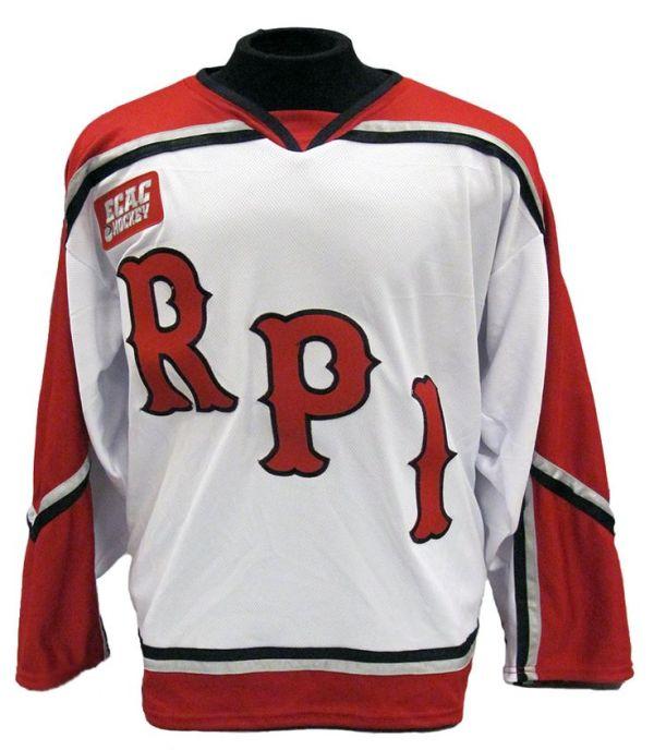 Rensselaer Men's Hockey Jersey - Home | Hockey - Let's Go ...