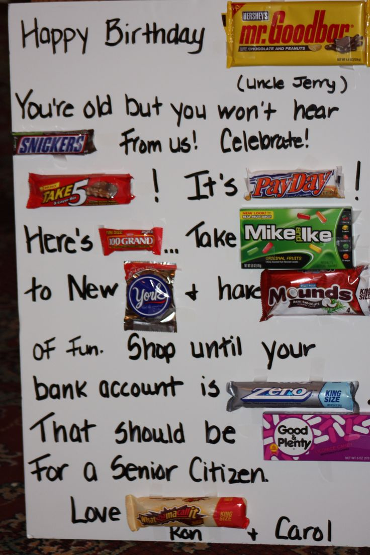 Candy Bar Card Revised For Uncle Holidays And Birthdays