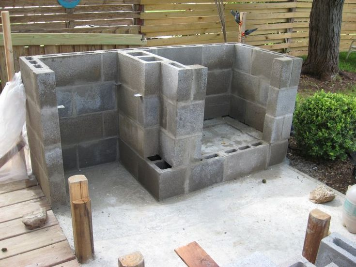 13 best images about Cinder Blocks on Pinterest | Outdoor ... on Building Outdoor Fireplace With Cinder Block id=16490