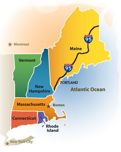 New England Colonies Coastline