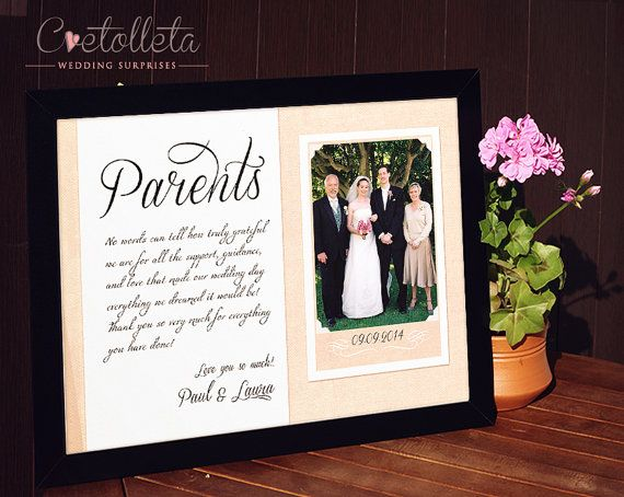 25+ Best Ideas About Parent Wedding Gifts On Pinterest