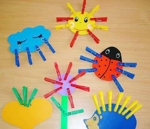 Игры с прищепками для детей, шаблоны и картинки для игр с ...