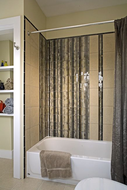 We Created A Waterfall Effect Above This Bath With Glass