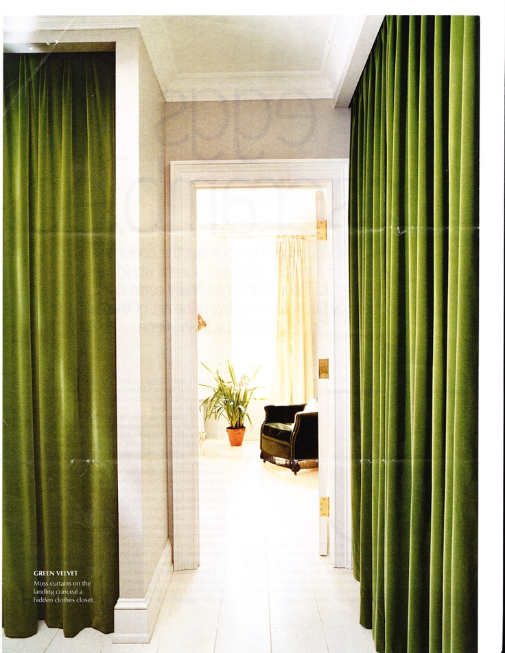 Green Velvet Drapes Line A Hall In Elliott Puckettes Brooklyn Brownstone EM Forsters Room