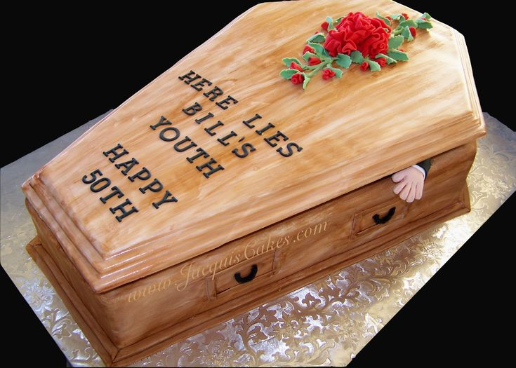 50th Birthday Cakes For Men Coffin Cake For A 50th