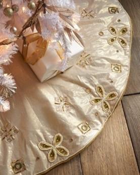 Gold Christmas Tree Skirt: