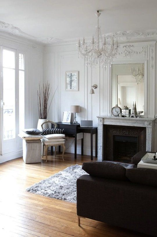 How To Decorate Like a Parisian  –    Hang a chandelier. It may be a bit of a clich, but hanging a chandelier above the dining table or in the living room is the simplest way to introduce a bit