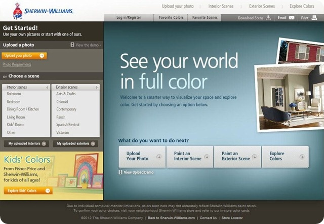 sherwin williams color visualizer paint colors on benjamin moore exterior paint visualizer id=99467