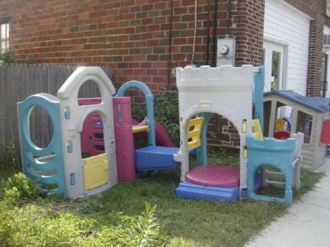 Fisher Price Castle Outdoor Climber Slide Sand Box