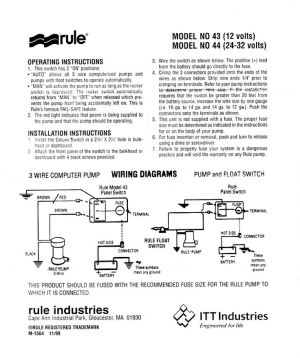 Rule Bilge Pump Switch Wiring Diagram | Boat electronics | Pinterest | Pump and Rule